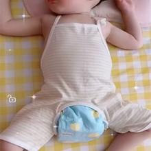 男女宝mn肚兜夏季薄du纯棉6护肚兜兜衣1连腿2婴儿夏装3个月岁半