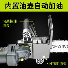 芝浦家用伐mo锯电链锯手le0v(小)型多功能木工迷你角磨机改装