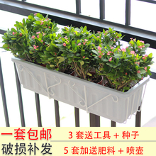 阳台栏mo花架挂式长co菜花盆简约铁架悬挂阳台种菜草莓盆挂架