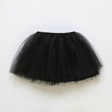半身裙mo秋黑色公主co裙蓬蓬裙中(小)童宝宝网纱舞蹈裙