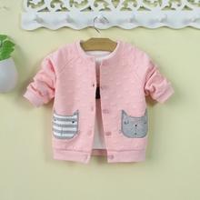 (小)童女mo宝外套洋气iq婴幼儿春装春秋冬网红婴儿上衣0-1-3岁2