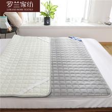 罗兰家mo软垫薄式家iq垫床褥垫被1.8m床护垫防滑褥子