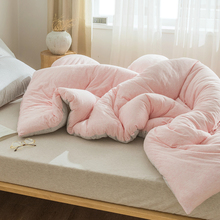裸睡天mo棉春秋被子wt厚保暖全棉纯棉针织棉空调被夏凉被芯
