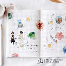 信的恋的和纸胶带 四时mo8语系列 tr家少女的物手账装饰贴纸
