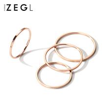 ZENmoLIU韩国tr女镀18K玫瑰金指环ins关节食指戒时尚个性