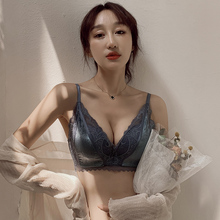 秋冬季mo厚杯文胸罩tr钢圈(小)胸聚拢平胸显大调整型性感内衣女