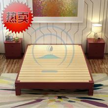 无头床mo卧(小)g户型pr架米简约出租屋实木床简易用