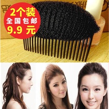日韩蓬mo刘海蓬蓬贴do根垫发器头顶蓬松发梳头发增高器