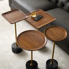 轻奢实mo(小)边几高窄do发边桌迷你茶几创意床头柜移动床边桌子