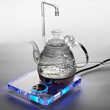 德韵上mo水晶玻璃壶ik泡茶壶养生恒温壶自动断电高原静音S808