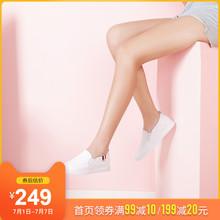 骆驼真mo(小)白鞋20ka式懒的皮鞋女平底休闲乐福鞋百搭英伦单鞋女