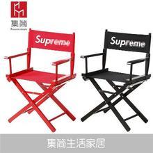 实木导mo椅折叠帆布in椅靠背办公休闲椅化妆椅钓鱼椅沙滩椅子
