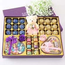 千纸鹤糖果年货员工福mo7德芙巧克in盒送女朋友生日新年礼物