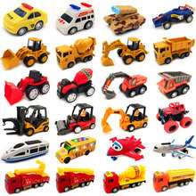 宝宝(小)mo车工程车回in耐摔飞机各类车挖机模型玩具套装