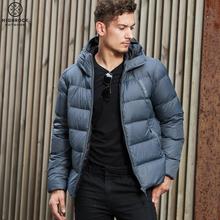 【顺丰mo货】HIGlaCK天石冬户外男短式连帽鹅绒外套