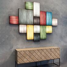 创意个mo简约现代楼la餐厅卧室床头客厅沙发背景实木艺术壁灯