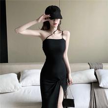(小)性感mo播服装女直la衣服夜 店装露肩夏天2019新式连衣裙子