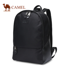 Camel/骆驼新式mo7包隔层空sa耐磨黑色背包大容量旅行双肩包