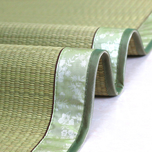 天然草mo1.5米1te的床折叠芦苇席垫子草编1.2学生宿舍蔺草凉席