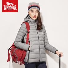 龙狮戴mo运动羽绒服te薄短式冬季连帽修身外套户外232321522
