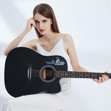 正品单mo民谣初学者tt0寸41寸木吉他成的男女学生入门新手自学
