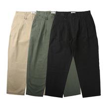 [moott]RADIUM 双褶直筒裤
