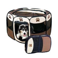 狗猫子mo物猫咪狗狗r8栏栅栏便携折叠户外室内猫狗窝屋