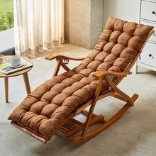 竹摇摇mo大的家用阳ei躺椅成的午休午睡休闲椅老的实木逍遥椅
