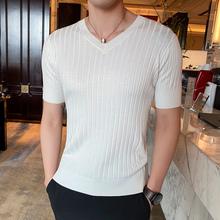 V领针mo衫长短袖男es丝打底衫薄式t恤衫半截袖体恤上衣