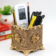多功能mo筒摆件创意eb务复古中国风笔筒北欧ins可爱化妆刷筒
