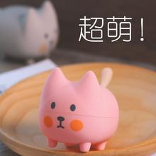 可爱少mo礼品卡通蓝rb无线便携式迷你音响(小)猫创意萌宠(小)钢炮