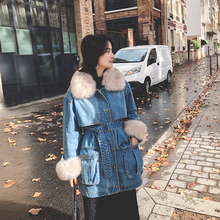 202mp年收腰女装gf厚chic棉衣工装棉袄外套