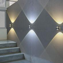 LEDmp厅卧室床头lu店酒吧清吧台走廊过道楼梯灯彩色背景墙壁灯