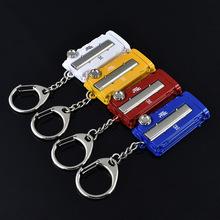 创意汽mq改装配件发gj擎盖金属钥匙扣广告礼品钥匙链挂件
