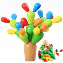 创意积mr拆装拼插仙1d童早教蒙氏教具益智木质仙的球配对玩具