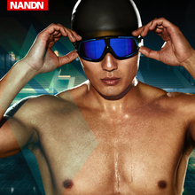 NN泳mr 大框 高om游泳镜男女平光度数电镀游泳眼镜
