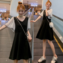 哺乳衣mr装连衣裙2om时尚新式夏季短袖显瘦中长裙子外出喂奶衣服