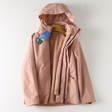 WT5mr3 日本Dom拆卸摇粒绒内胆 防风防水三合一冲锋衣外套女
