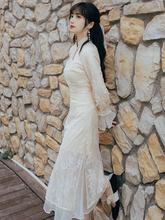 改良旗ms年轻式少女ny质仙女蕾丝连衣裙夏古着vintage裙桔梗