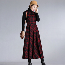 202ms秋冬新式复tg娃娃领修身连衣裙女气质打底裙