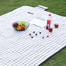 insmt野餐布户外gq潮垫便携沙滩防水野餐垫公园野炊草坪地垫
