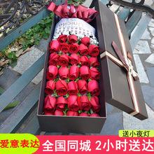 99朵玫瑰鲜花花束生日鲜花速mt11同城送ag广州深圳北京南昌