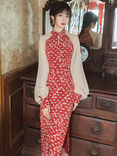 年轻式mu021新式at春季甜美旗袍日常可穿改良款气质