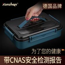 304不锈mu材质饭盒(小)dl童分格大容量餐盒上班族长方形便当盒