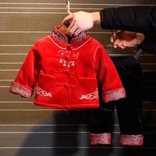 拜年服mu宝宝唐装冬ch保暖套装2020新式中国风宝宝汉服婴幼儿