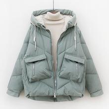 羽绒棉服mu12020ch韩款宽松加厚面包服棉衣袄子棉袄短款外套