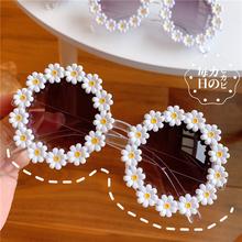 insmu网红创意(小)lu镜太阳镜野餐个性街拍可爱花朵装饰眼镜女