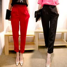 高腰2021mu装新款女款p3分裤大码休闲裤女宽松显瘦直筒裤潮