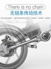 美国Gmxforceqj电动车折叠自行车代驾代步轴传动(小)型迷你电车