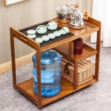 。根雕mx台家用经济x8桌多层简约茶台茶道矮式阳台桌子个性竹